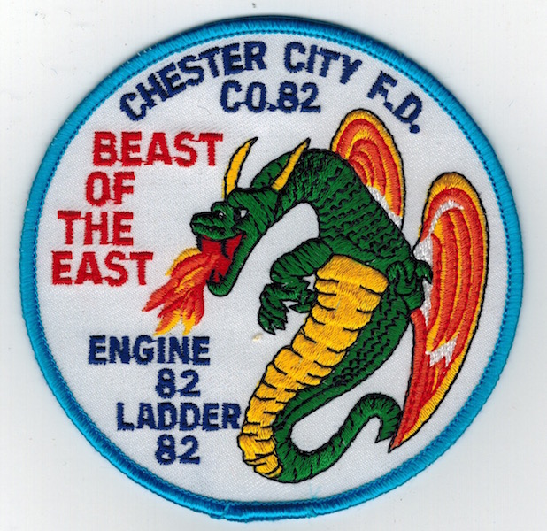 CHESTER CITY FIRE DEPT. DRAGON