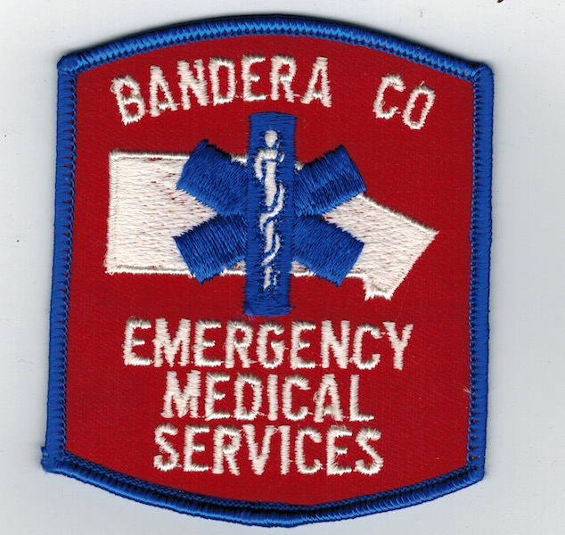 BANDERA CO EMS RED PATCH