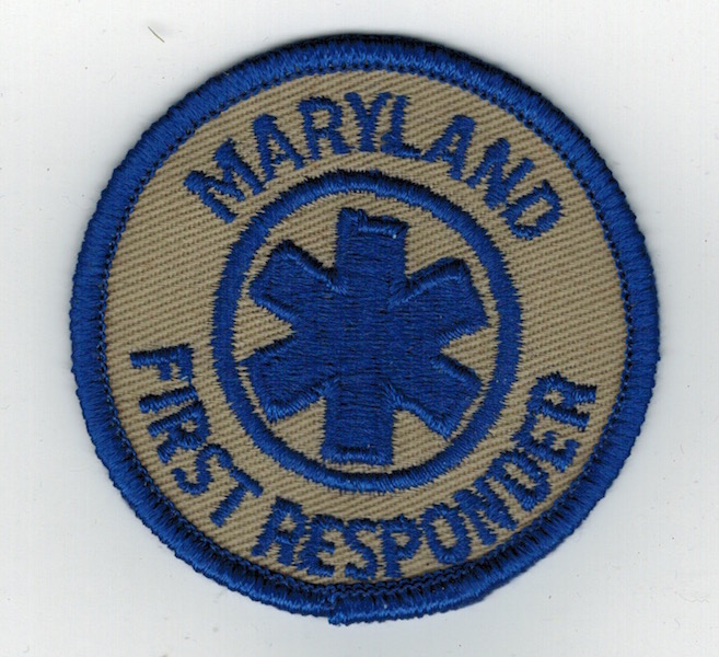 MARYLAND FIRST RESPONDER SMALL - Click Image to Close