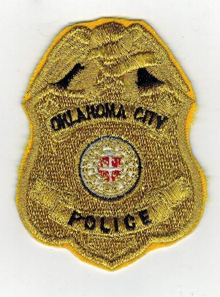 OAKLAHOMA CITY POLICE BADGE PATCH 3 INCHES (20)