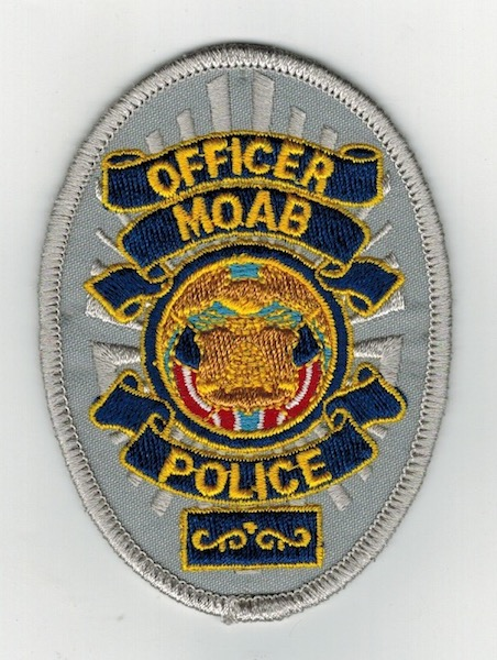 OFFICER MOAB POLICE BADGE PATCH 3 1/2 INCHES (23)