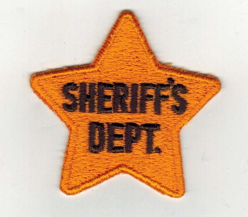 SHERIFF'S DEPT. STAR 2 1/2 INCHES (25)
