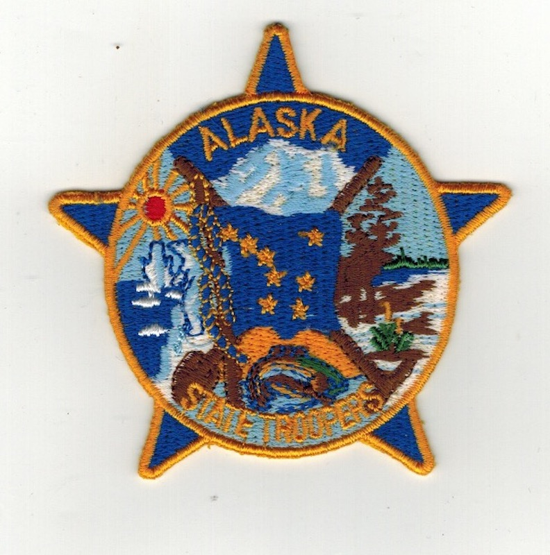 ALASKA STATE TROOPERS SMALL 3 INCHES (25)