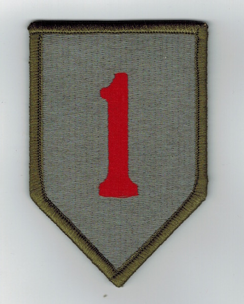 1ST INFANTRY DIVISION VELCRO BACKING BIG RED 1