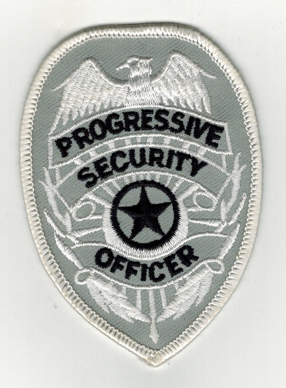 PROGRESSIVE SECURITY OFFICER BADGE PATCH (21)
