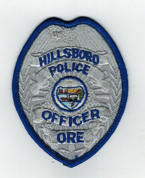 HILLSBORO POLICE OFFICER ORE. BADGE PATCH (VH)
